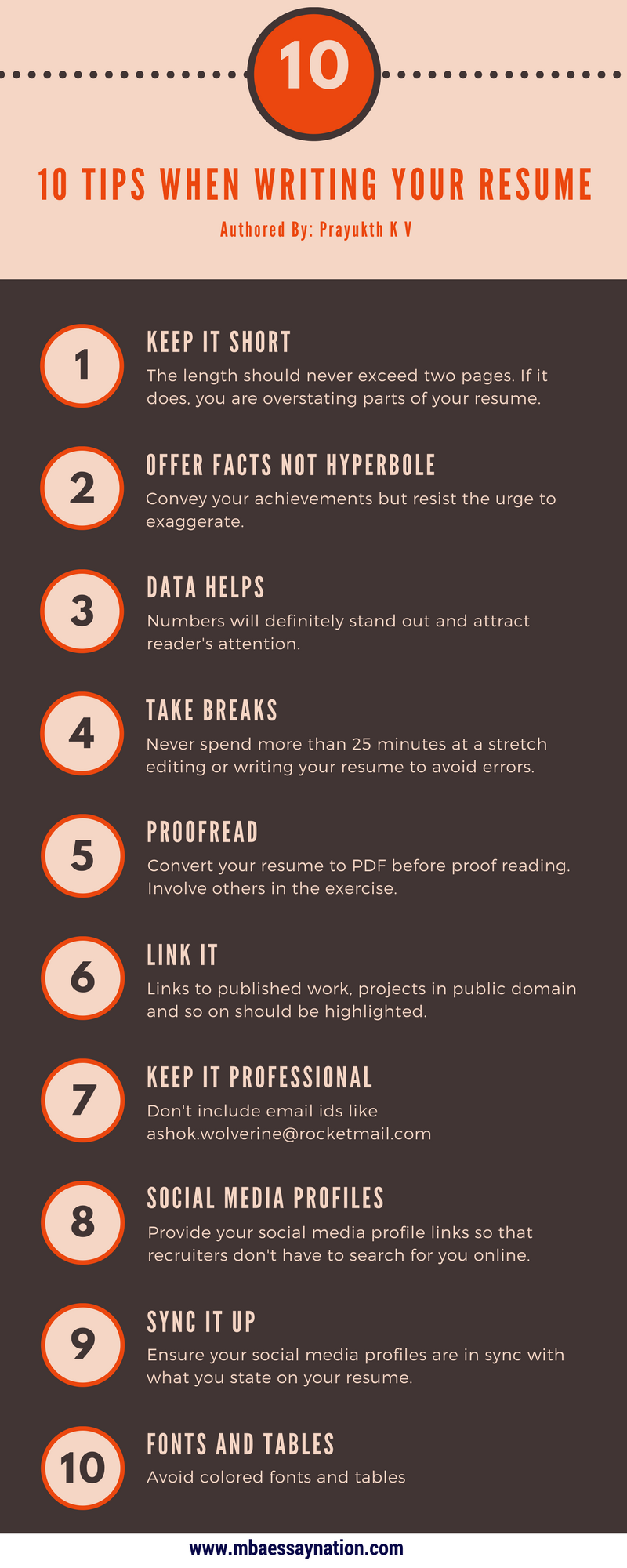 10 tips for writing a resume annecarolynbird